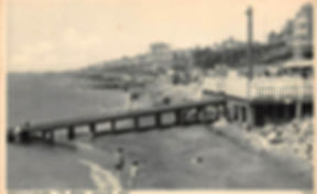 Westcliff-on-Sea, The Beach, Looking West Swimming History