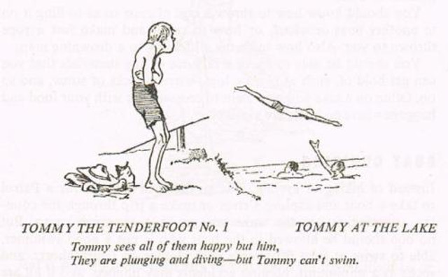Learn to swim Tommy the Tenderfoot