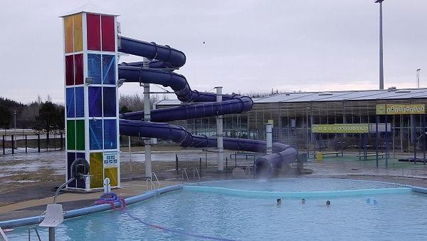 Outdoor swimming in Reykjavík Iceland