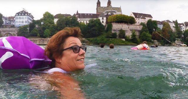 Basel Swim City wild swimming video