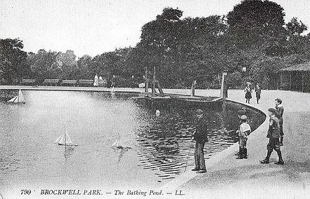 BROCKWELL park Bathing Lake London Swimming History