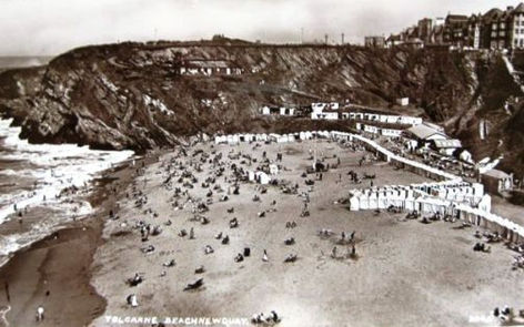 The Bathing Beach Newquay Wild Swimming History Cornwall