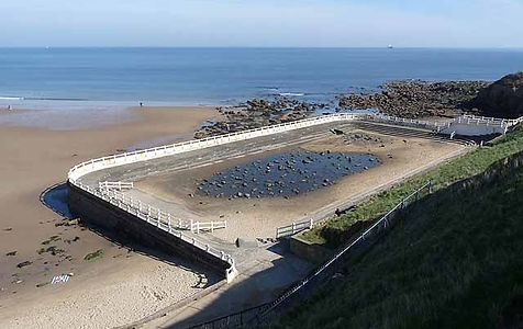 Long Sands, Tynemouth was opened in 1925, now abandoned
