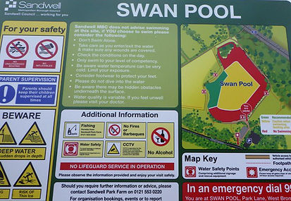 Sandwell Council, Birmingham encourage Wild Swimmers at Swan Pool