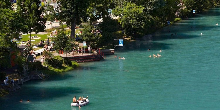 River Swimming Bern Switzerland