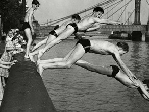 Swimming lessons in London's docklands 1923 Archive