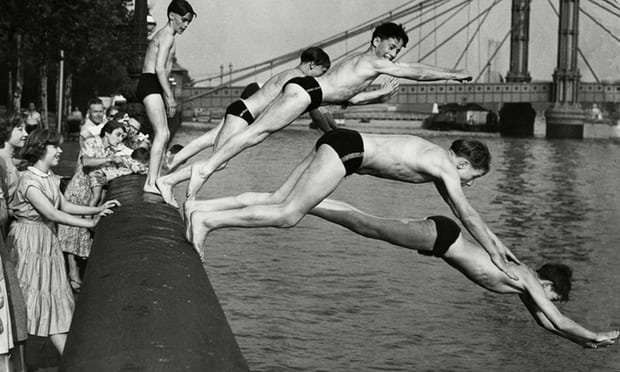 Swimming lessons in London's docklands