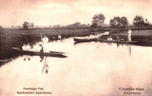 The Porridge Pot, Backwater and popular swimming spot. Aylestone Leicester History