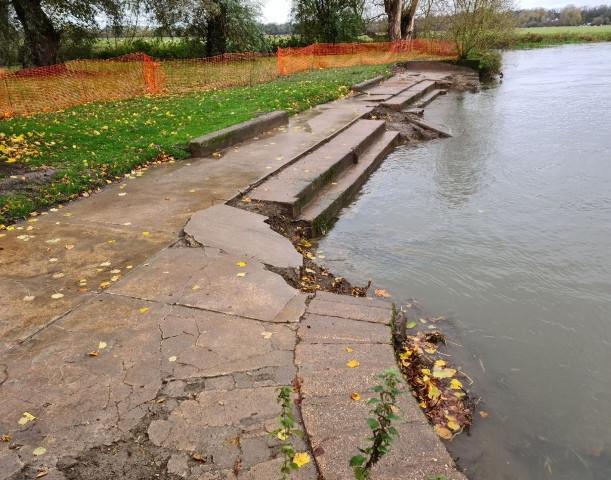 Godmanchester's old bathing steps