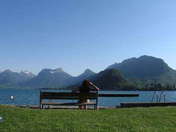 Wild Swimming at Lido at Talloires, Lake Annecy