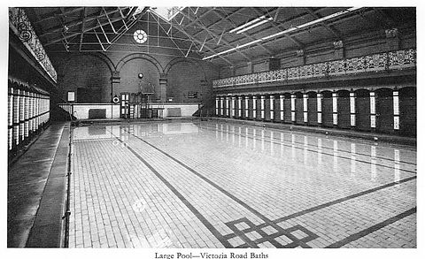 Victoria Road Baths Large Pool Ashton Swimming History