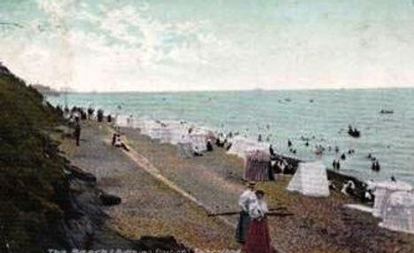 Folkestone Bathing Tents Swimming History