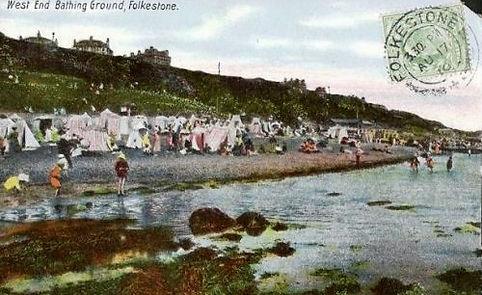Sea Bathing Folkestone West End Swimming History
