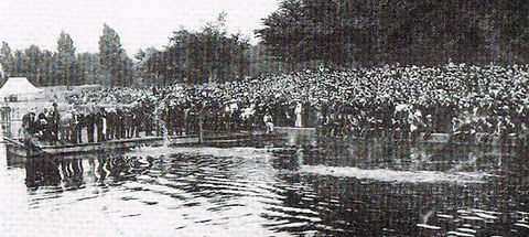 Swimming History Leicester, Abbey Park River, Swimming Baths