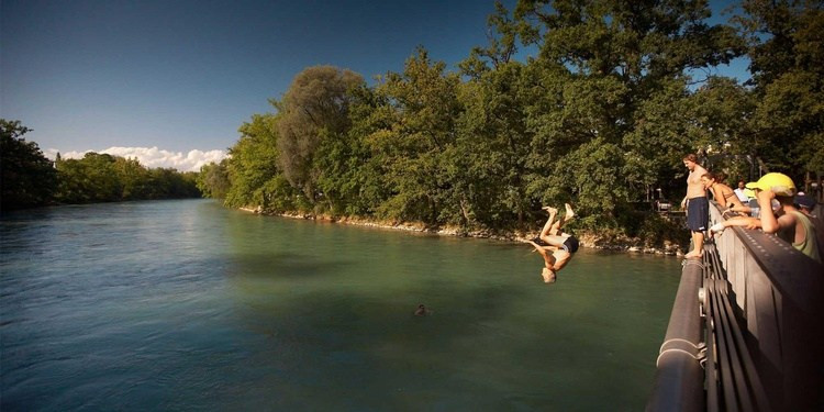 Wild Swimming Bern Switzerland