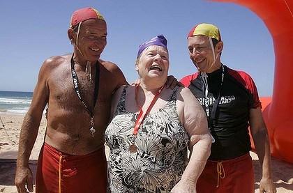 72 Year Old Wild Swimming Star