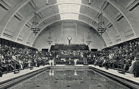 Swimming History London Haggerston Public Swimming Baths Mansfield Street, Kingsland. London