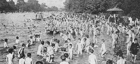 Swimming History London Victoria Park Bathing Lake London