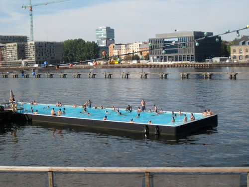Badeschiff Swimming Pool in Berlin, Germany