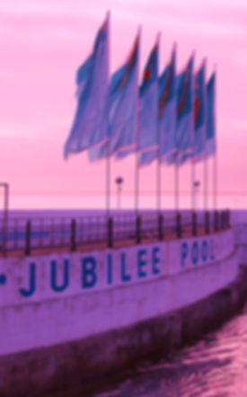 Flying the flag for the Jubilee Pool Penzance
