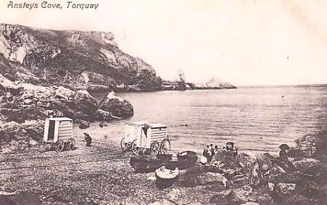 Wild Swimming and Bathing Machines - Anstey's Cove Torquay