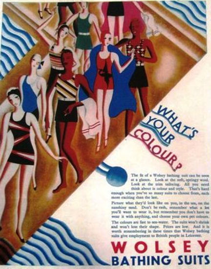 Swimming History Leicester, Wolset Bathing Suits