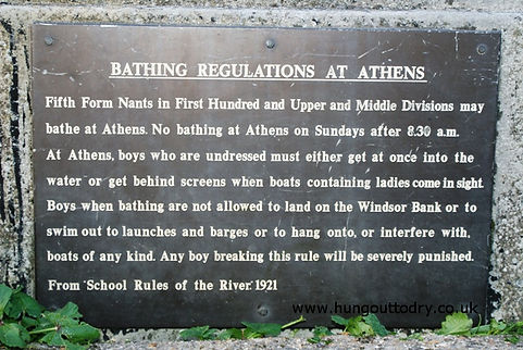 Bathing regulations at Athens: Swimming history Windsor - Eton School