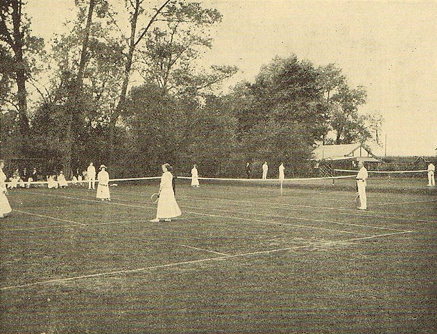 Tennis and Camping. Aylestone History, Leicester.