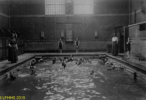Bacup Public Baths - Large Pool Swimming History