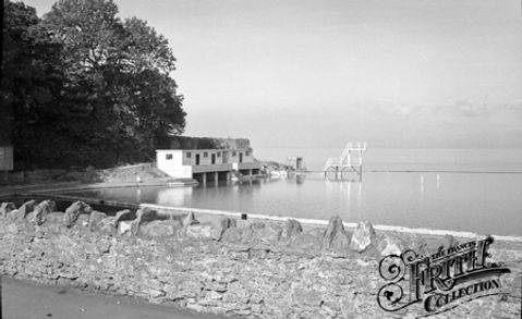 The Bathing Station Clevedon 1955