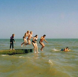 Wild Swimming - jumping into the sea