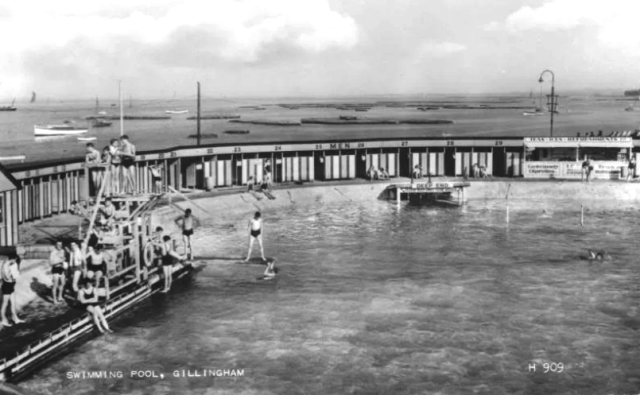 The Strand Lido Gillingham swimming history