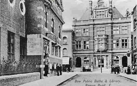 London Swimming History. POPLAR. ​  Public Bath, Roman Road, BowPublic Bath, Poplar.