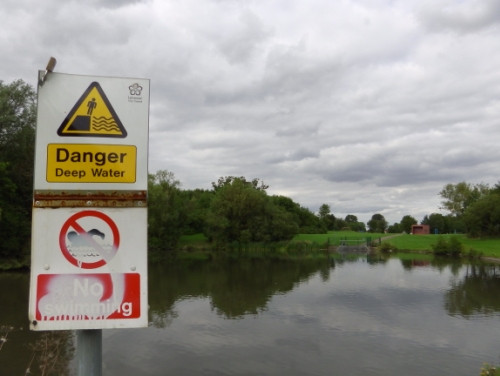 No Swimming Braunstone Park Leicester