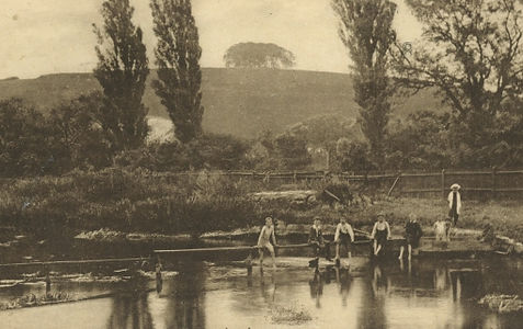 St Catherines Hill Bathing Plce Winchester Swimming History