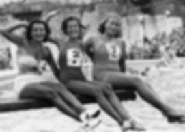 Sunbathing Contests, Three contestants show off their suntan