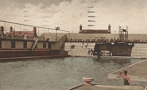 Hotel Bathing Pool Felixstowe Swimming History