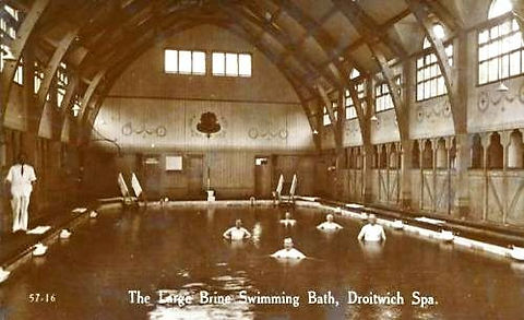 The Large Brine Swimming Bath Droitwich Spa Swimming History