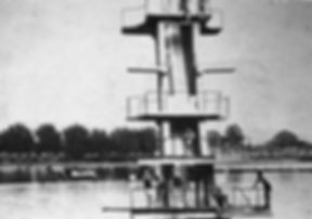 Marlborough Road, Coate Water, Diving Stage Swimming History