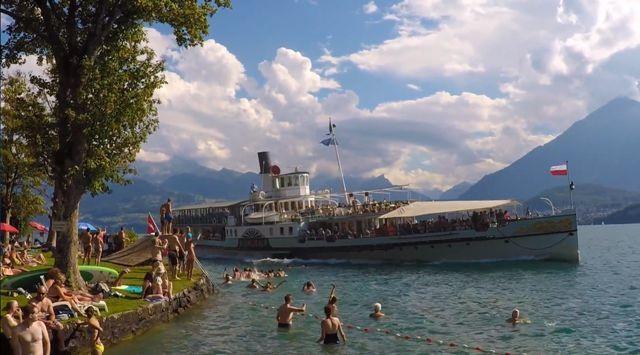 Wild Swimming Gunton Switzerland