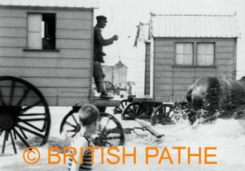 Bathing Machines Ostend 1923