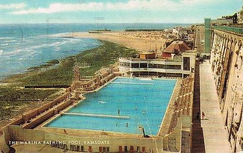 The Marina Bathing Pool, Ramsgate Swimming History