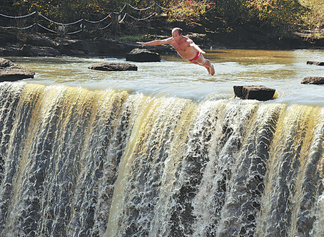 Plucky Pensioner Cliff-diving Daredevil