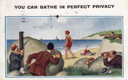 The seaside telescope gave peeping Toms the very tool they needed to spy on the fairer sex.