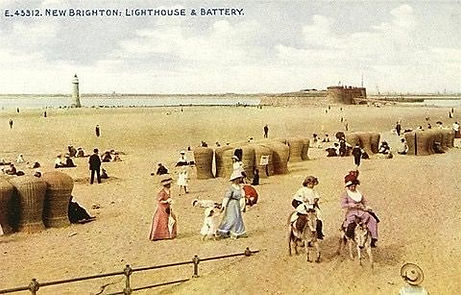 NEW BRIGHTON. ​  River Mersey. No dressing accommodation. Historic wild swimming venue.