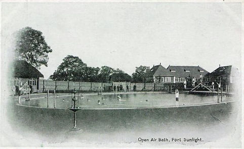 PORT SUNLIGHT. ​  Open-air. Lido. Ellens Rocks. Historic wild swimming venue.