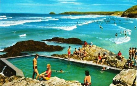 Perranporth Sea Pool Wild Swiming History Cornwall