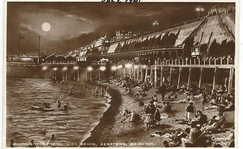 Moonlight Bathing at Brighton Swimming History