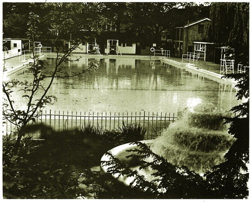 the old Peckham Lido and fountain