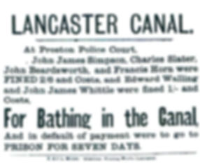 Fine For Bathing in the Lancaster Canal.